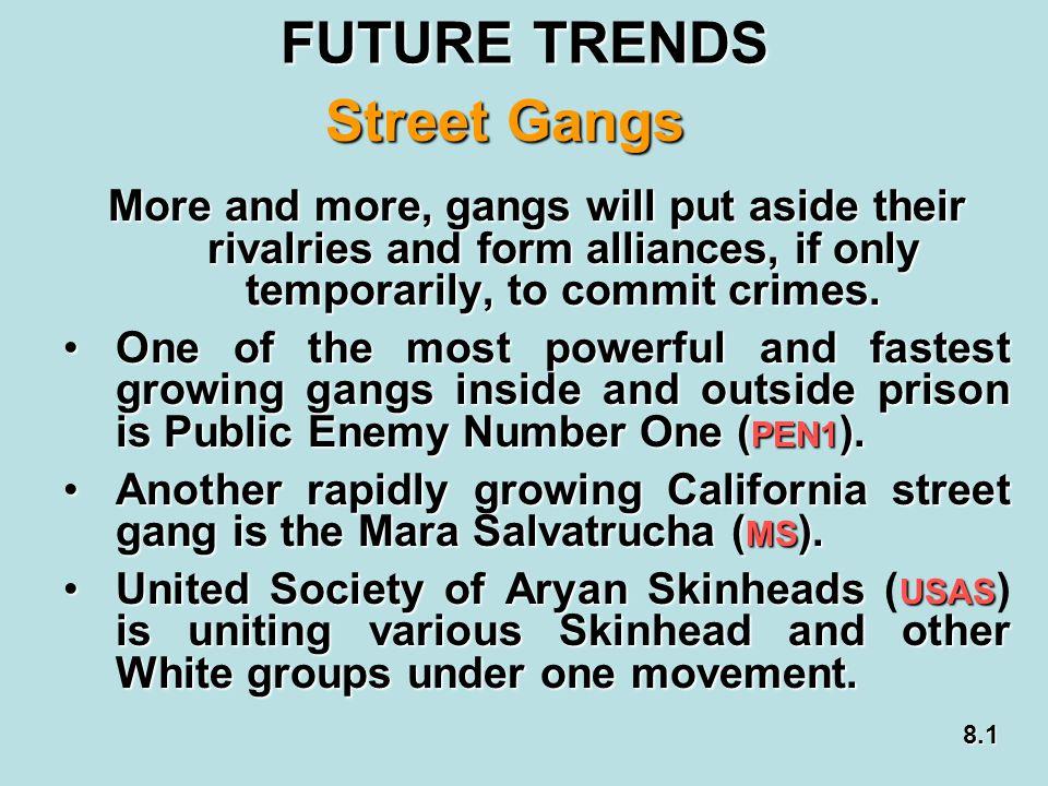 FUTURE TRENDS Street Gangs