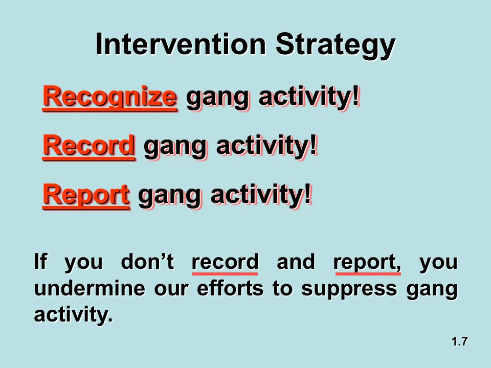 Intervention Strategy