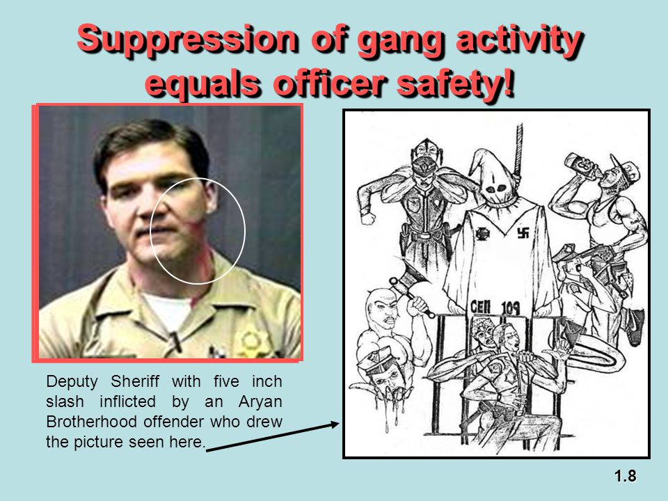 Suppression of gang activity equals officer safety!