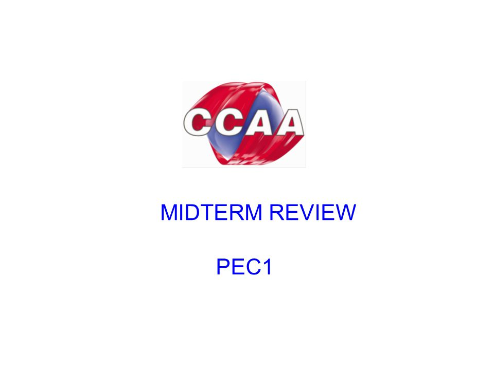 MIDTERM REVIEW PEC1