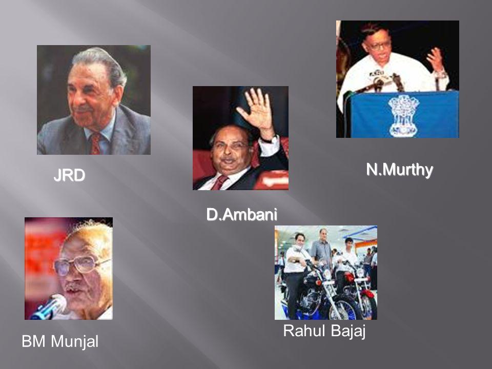 N.Murthy JRD D.Ambani Rahul Bajaj BM Munjal