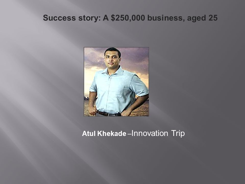 Success story: A $250,000 business, aged 25