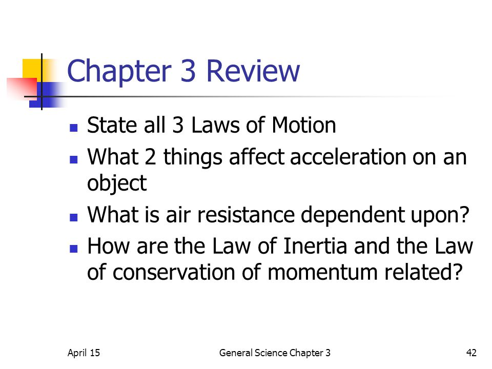 General Science Chapter 3
