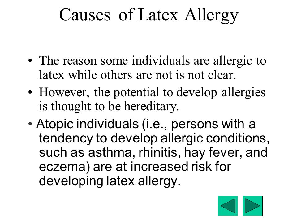 Causes of Latex Allergy