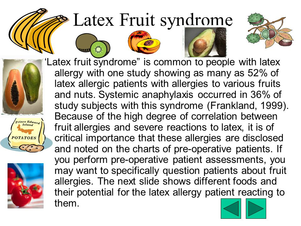Latex Fruit syndrome