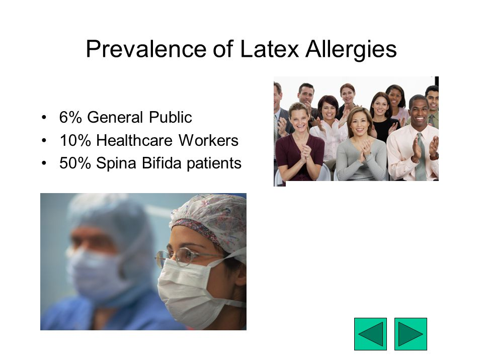 Prevalence of Latex Allergies