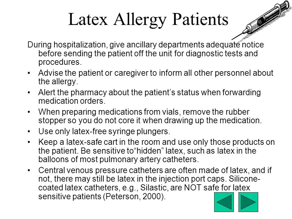Latex Allergy Patients