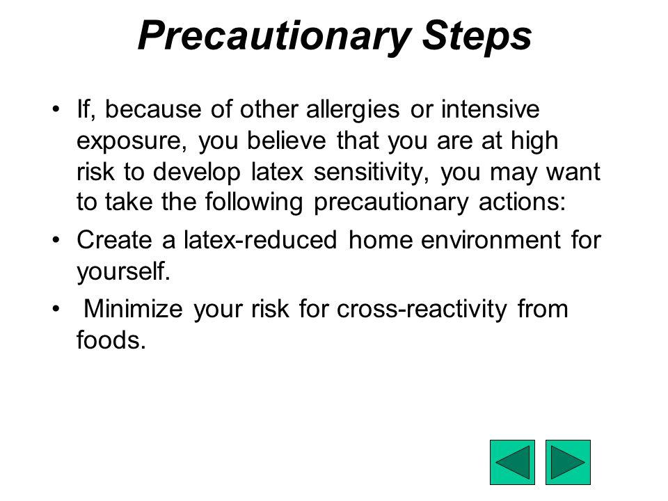 Precautionary Steps