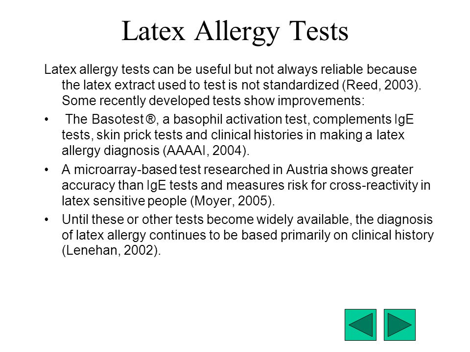 Latex Allergy Tests