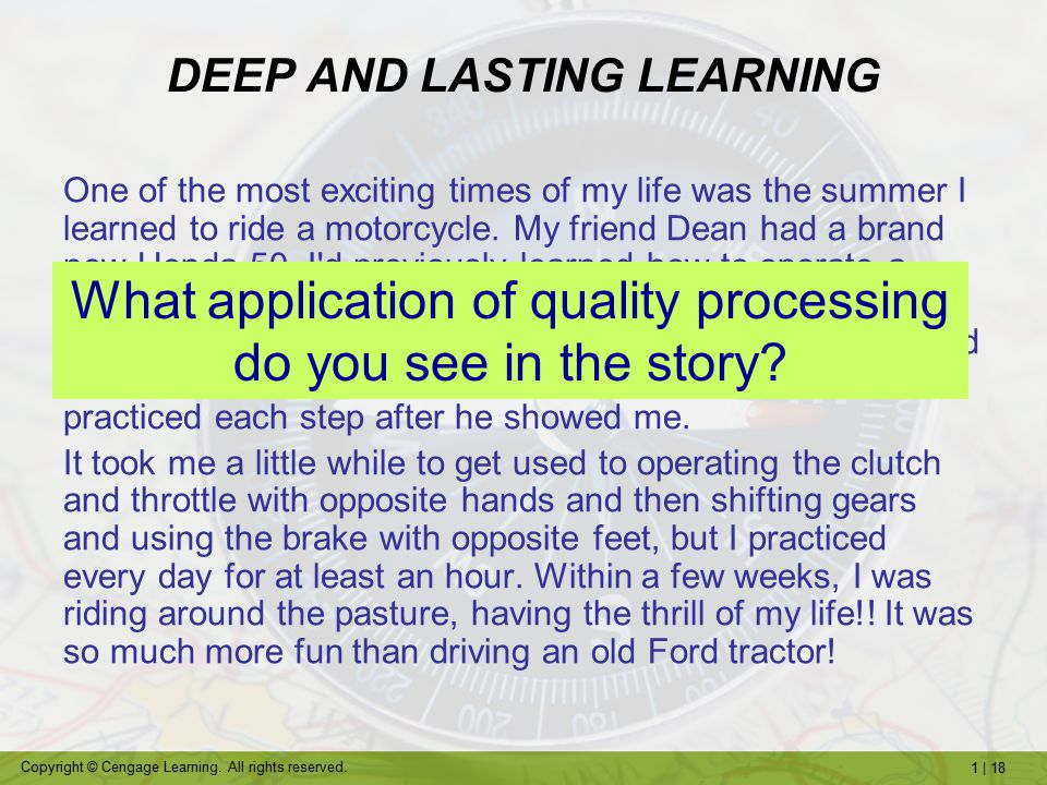 DEEP AND LASTING LEARNING