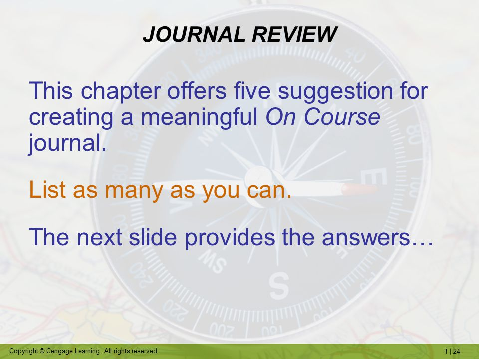 The next slide provides the answers…