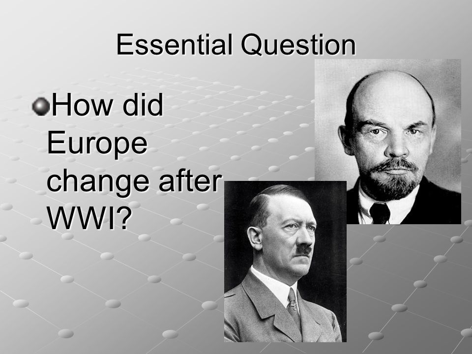 How did Europe change after WWI