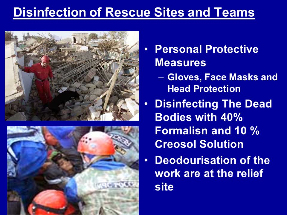 Disinfection of Rescue Sites and Teams