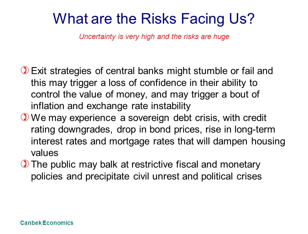 What are the Risks Facing Us