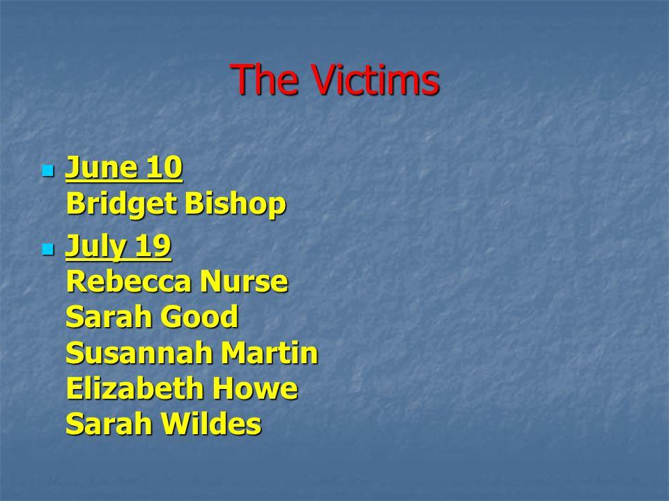 The Victims June 10 Bridget Bishop