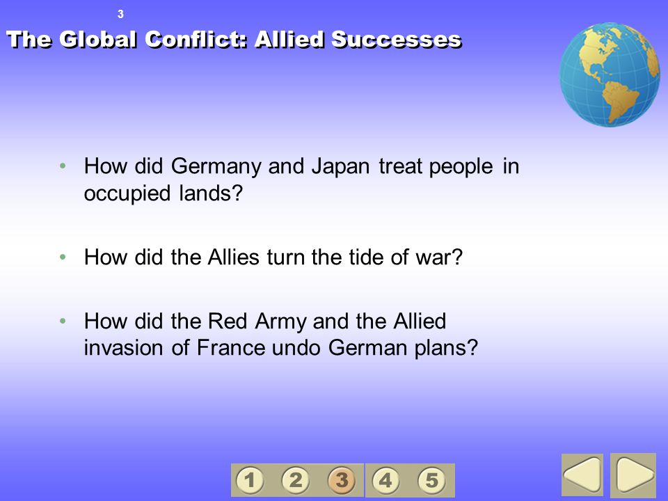 The Global Conflict: Allied Successes