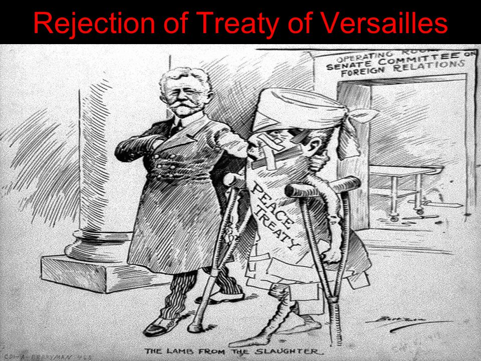 Rejection of Treaty of Versailles
