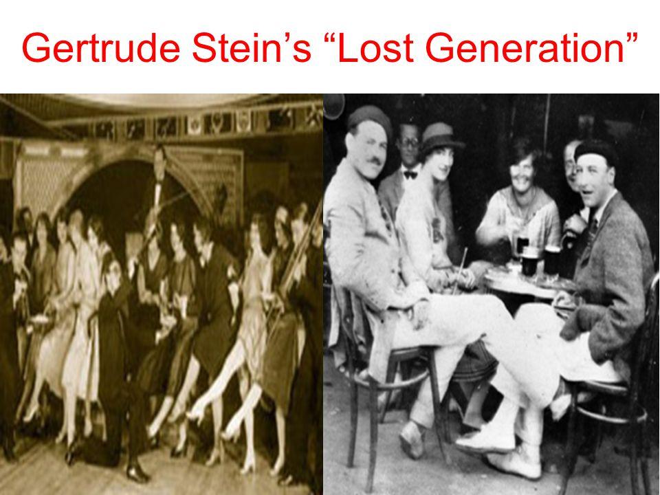Gertrude Stein's Lost Generation