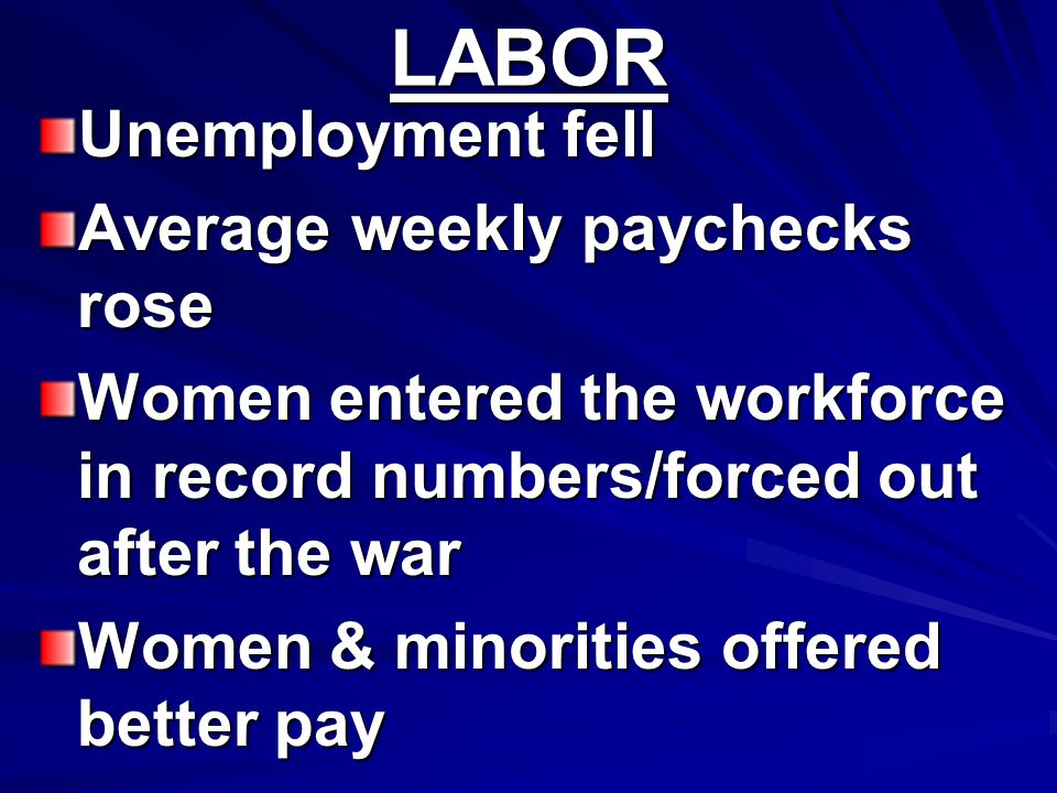 LABOR Unemployment fell Average weekly paychecks rose