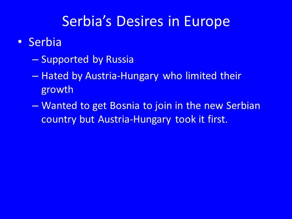 Serbia's Desires in Europe