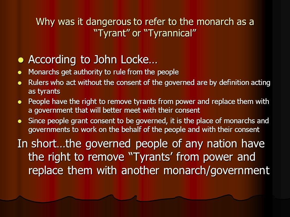 According to John Locke…