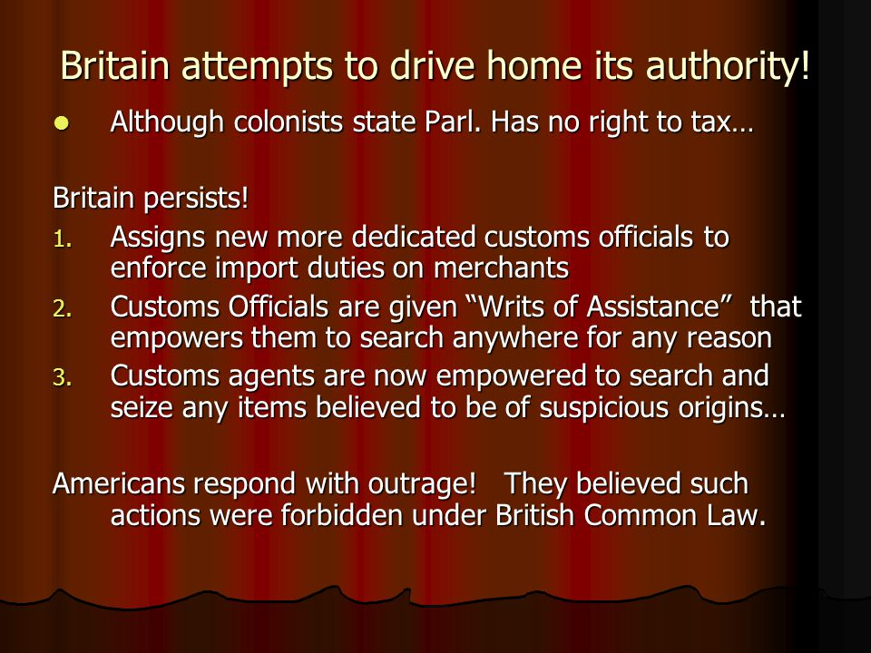 Britain attempts to drive home its authority!