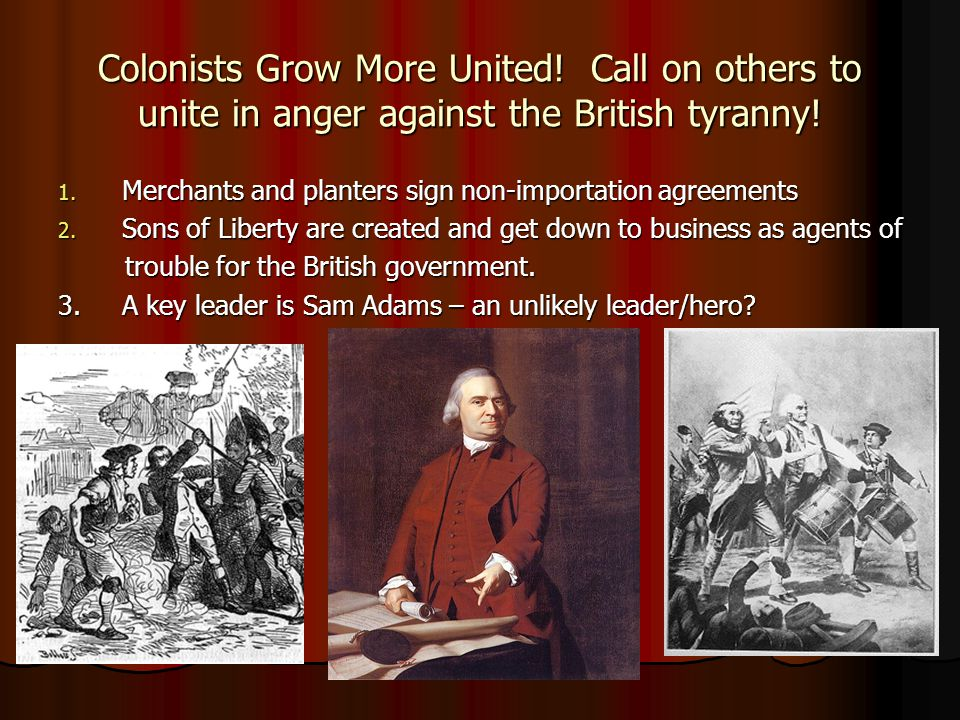 Colonists Grow More United
