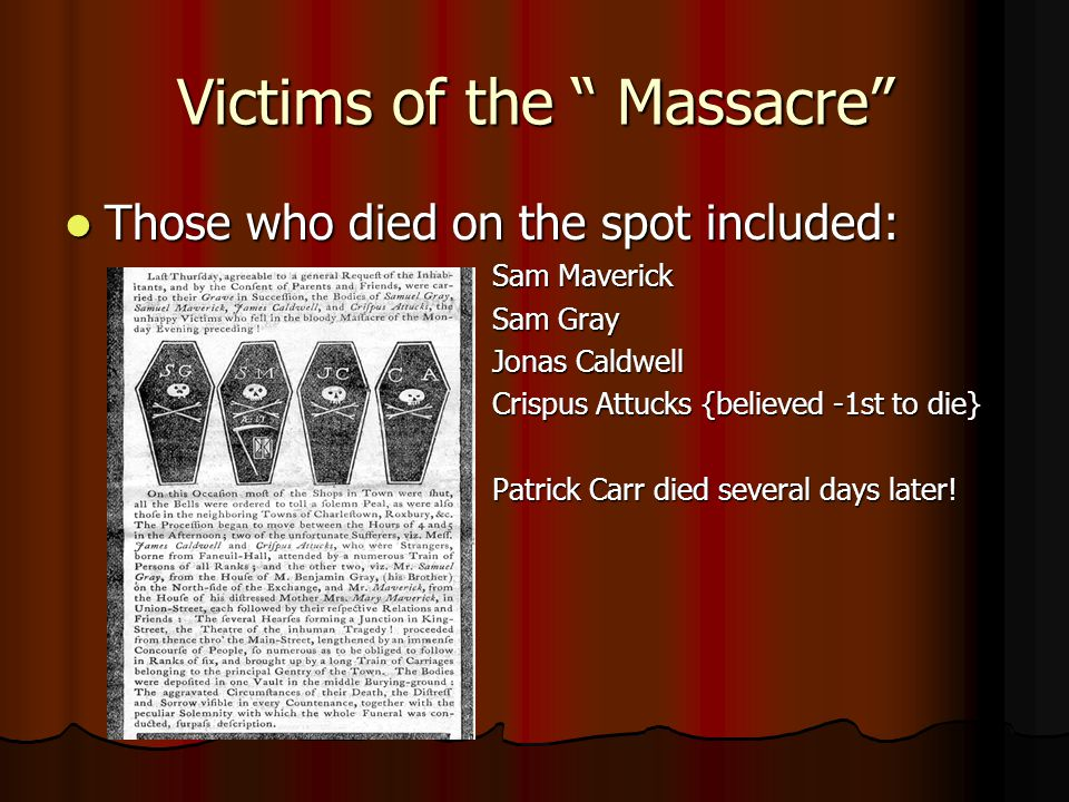 Victims of the Massacre