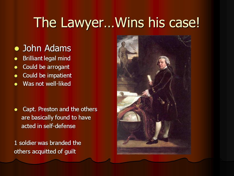 The Lawyer…Wins his case!