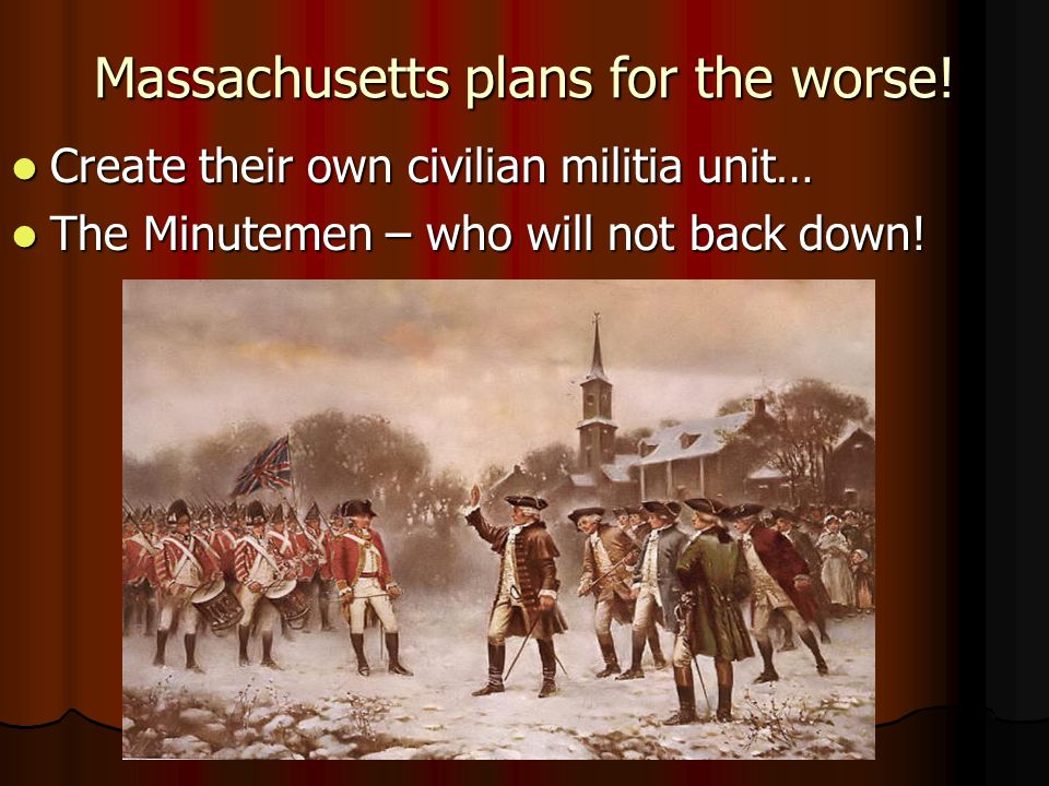 Massachusetts plans for the worse!