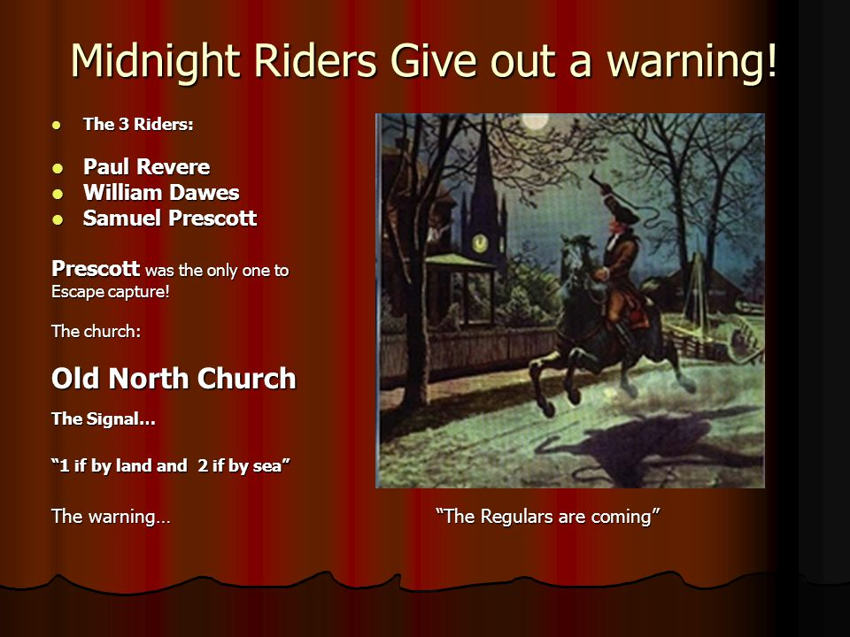 Midnight Riders Give out a warning!