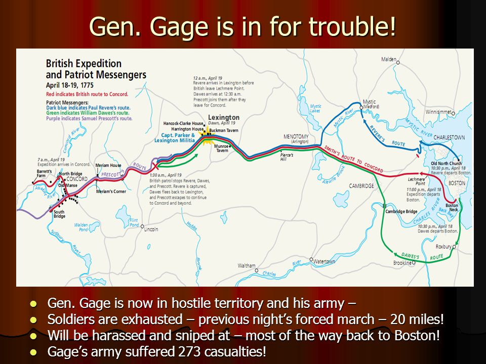 Gen. Gage is in for trouble!