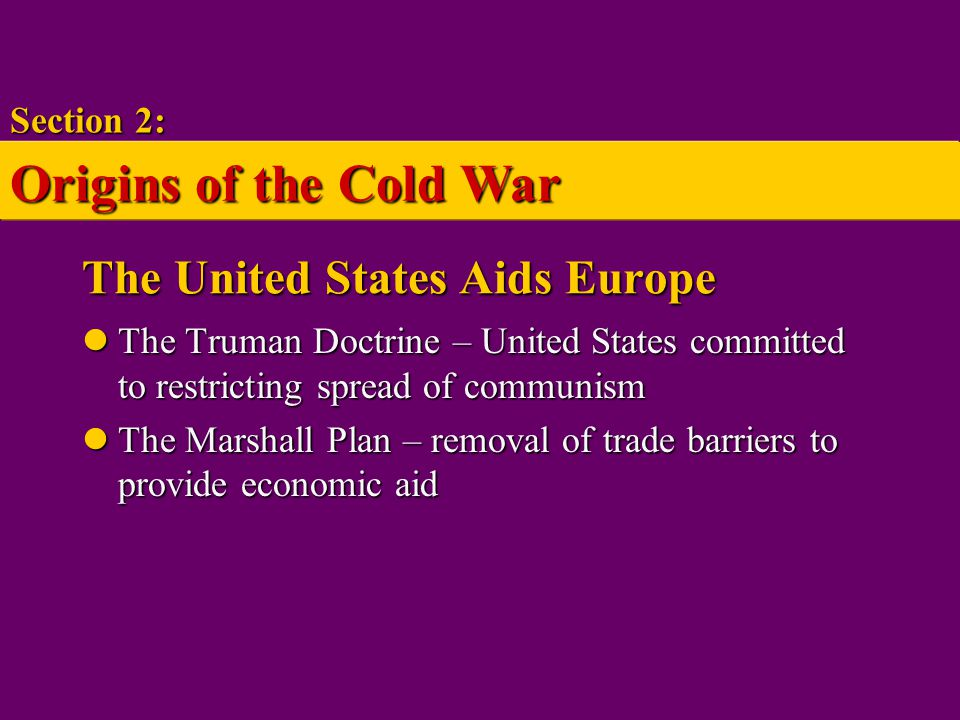 The United States Aids Europe