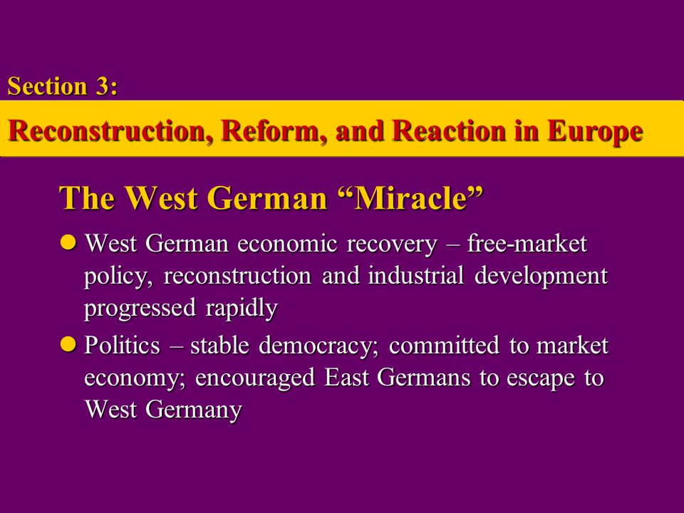 The West German Miracle