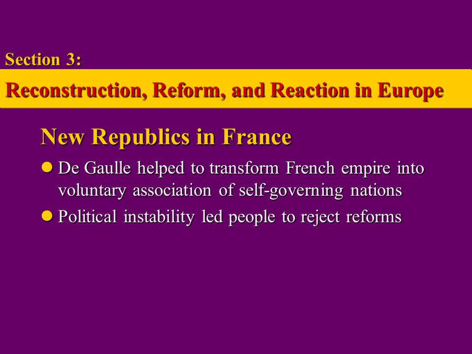 New Republics in France