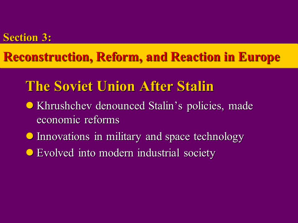 The Soviet Union After Stalin