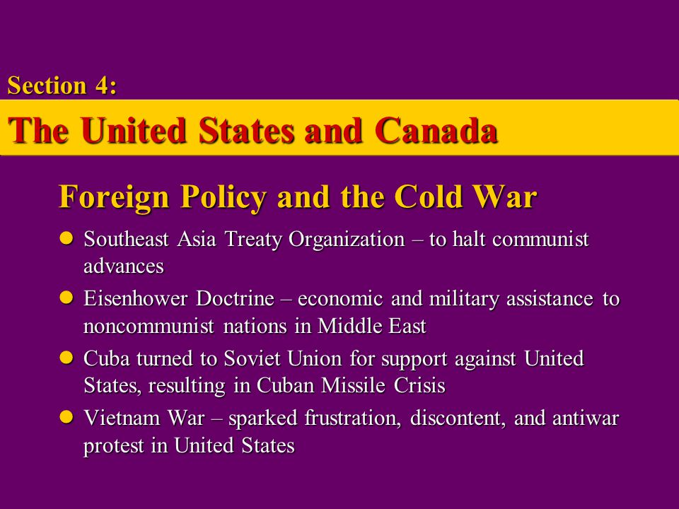 Foreign Policy and the Cold War