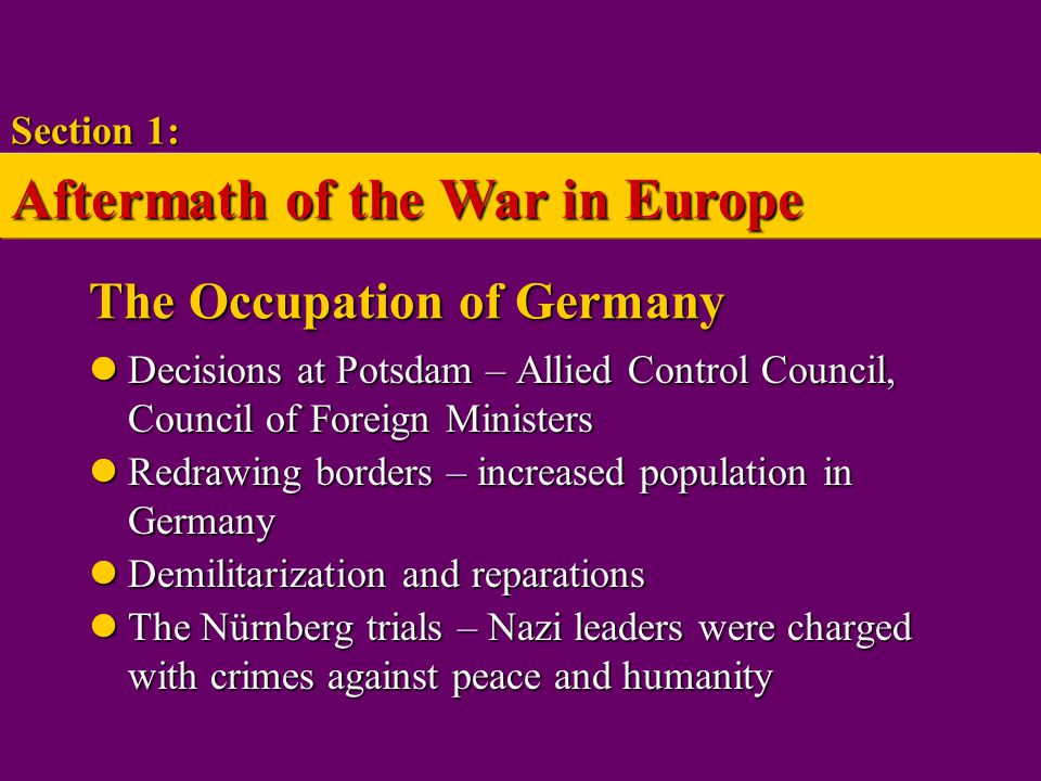 The Occupation of Germany