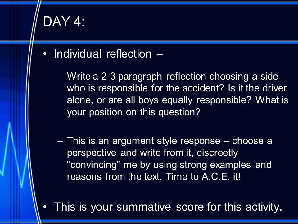 DAY 4: Individual reflection –