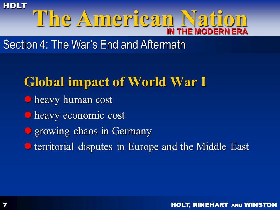 Global impact of World War I