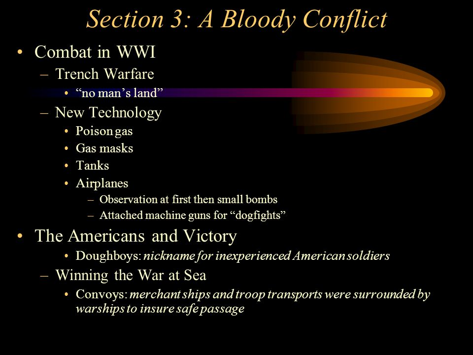 Section 3: A Bloody Conflict