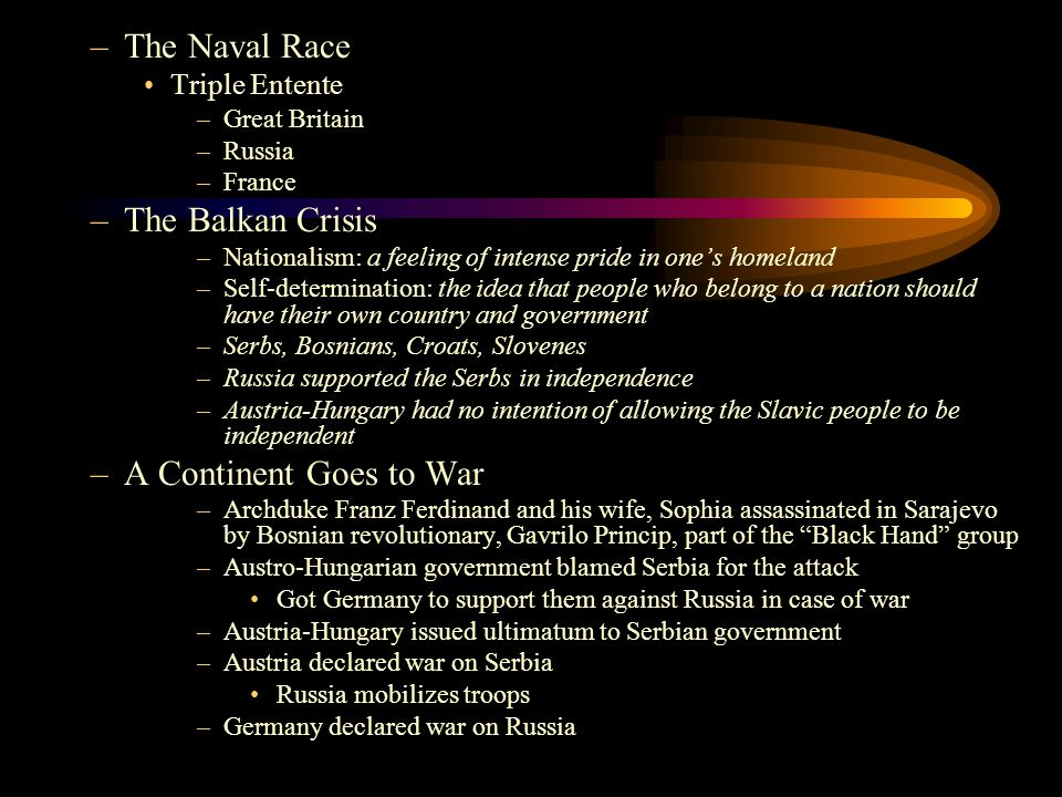 The Naval Race The Balkan Crisis A Continent Goes to War