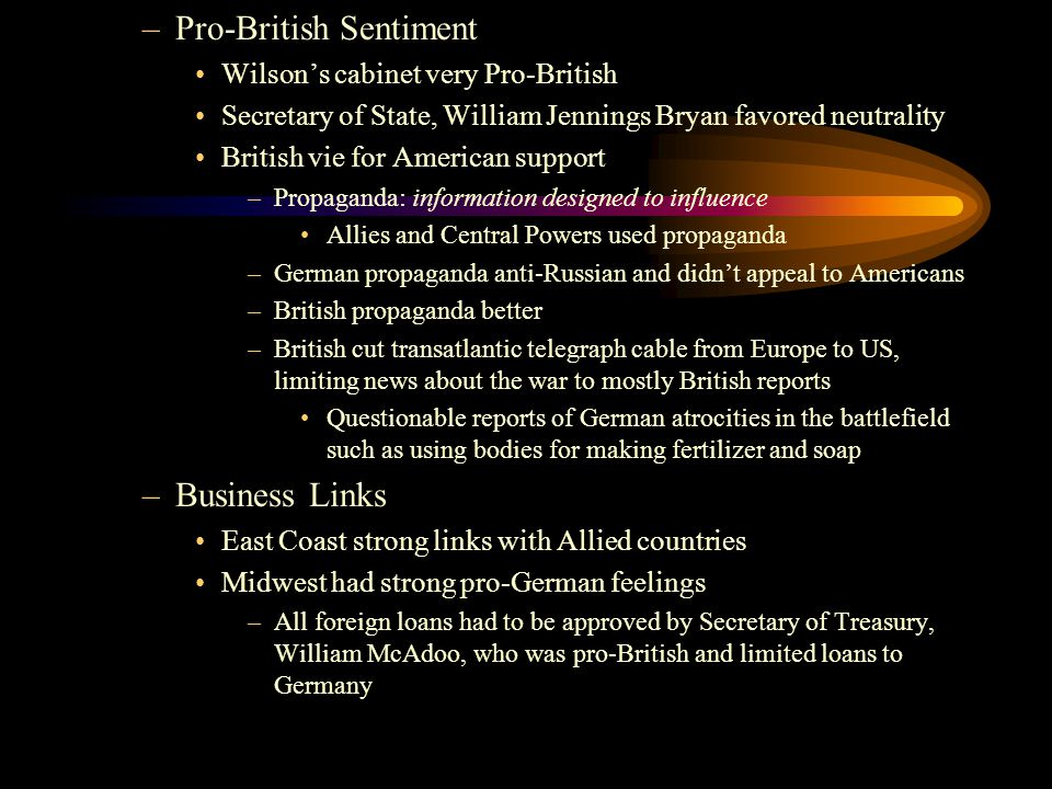 Pro-British Sentiment