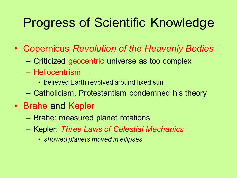 Progress of Scientific Knowledge