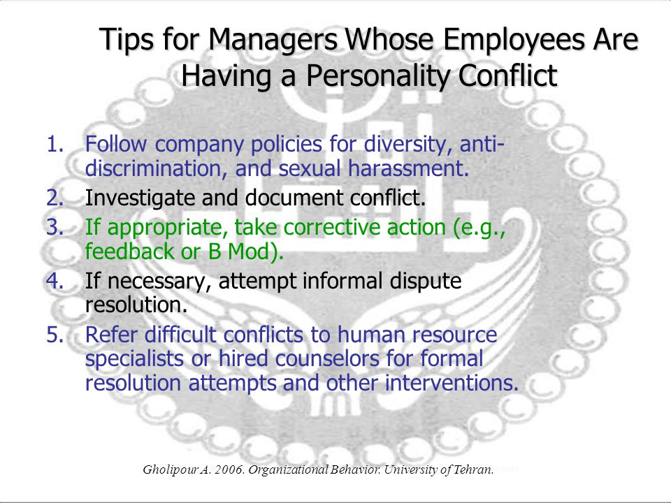 Tips for Managers Whose Employees Are Having a Personality Conflict