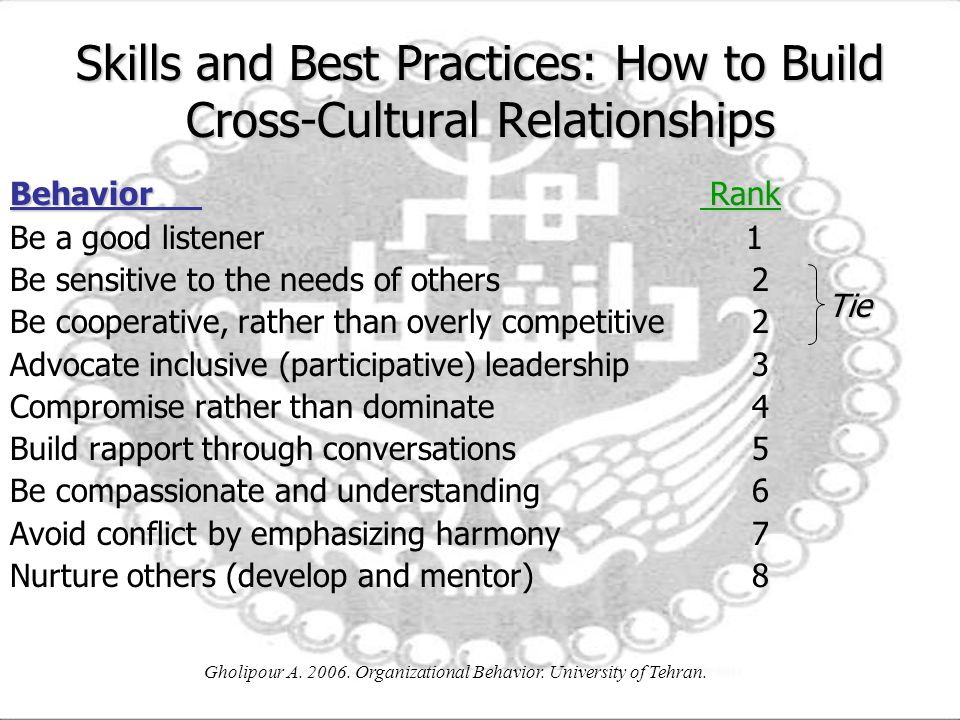 Skills and Best Practices: How to Build Cross-Cultural Relationships