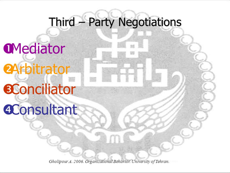 Third – Party Negotiations