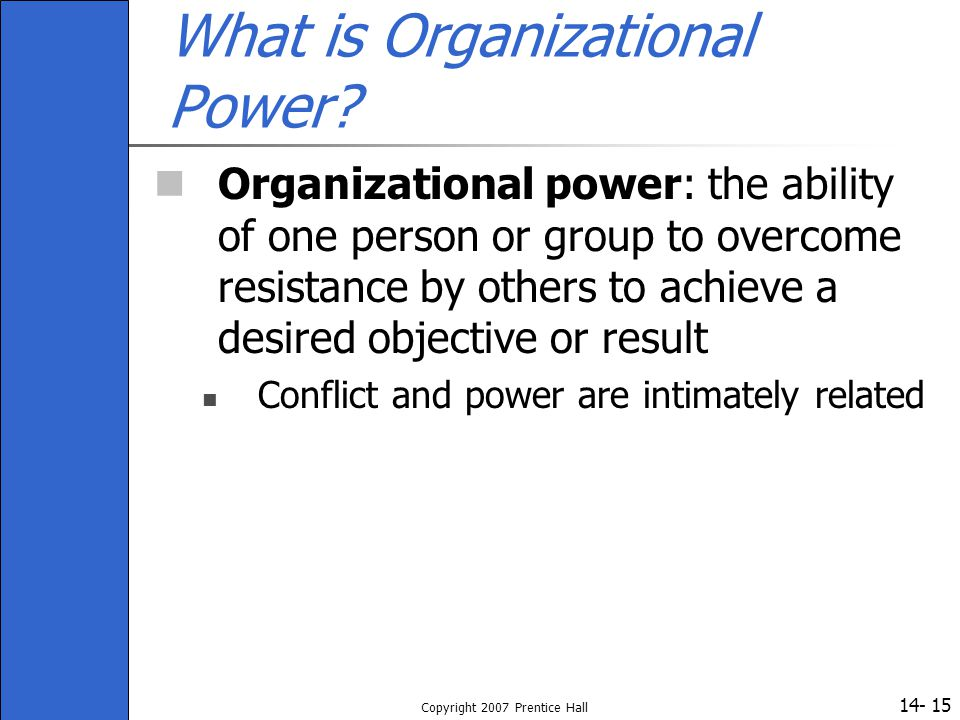 What is Organizational Power