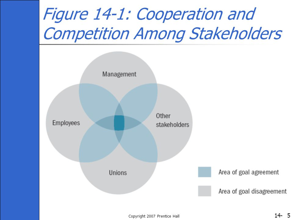 Figure 14-1: Cooperation and Competition Among Stakeholders