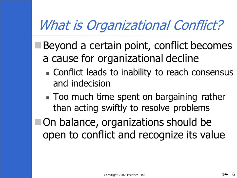 What is Organizational Conflict